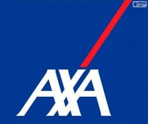 AXA logo puzzle