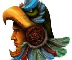 Aztec warrior puzzle