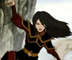 Azula is the Princess of the Fire Nation and Zuko's younger sister puzzle
