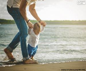 Baby on the seashore puzzle