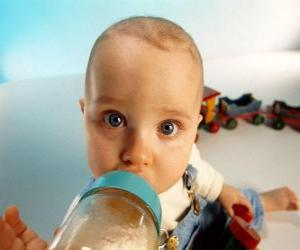 Baby taking his baby bottle puzzle