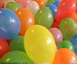 Balloons for a party puzzle