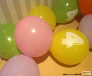 Balloons with numbers puzzle