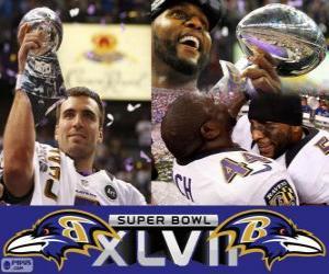 Baltimore Ravens Super Bowl 2013 Champions puzzle