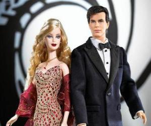 Barbie and Ken very elegant puzzle