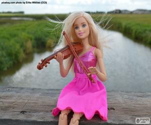 Barbie playing the violin puzzle
