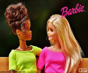 Barbie with her friend puzzle