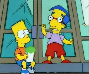 Bart Simpson and Milhouse Van Houten, two great friends puzzle