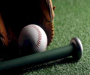 Baseball, glove and bat puzzle