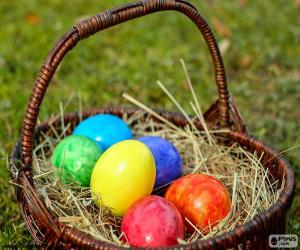 Basket of Easter eggs puzzle