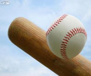 Bat and ball baseball puzzle