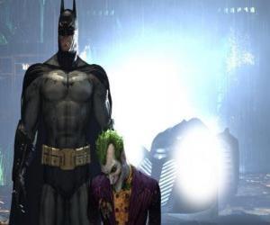 Batman arrested his enemy the Joker puzzle