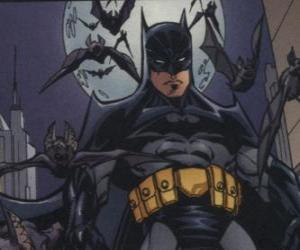 Batman with his friends, the bats puzzle