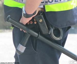 Baton and handcuffs puzzle