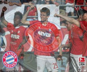 Bayern Múnich, champion 2015-2016 puzzle