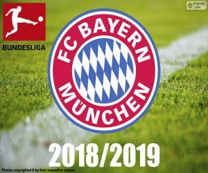 Bayern Munich, champion 2018-2019 puzzle