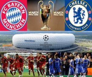 Bayern Munich vs Chelsea FC. Final UEFA Champions League 2011-2012. Allianz Arena, Munich, Germany puzzle