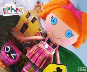 Bea Spells-A-Lot from Lalaloopsy with her pet, an owl puzzle