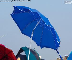 Beach parasol blue puzzle