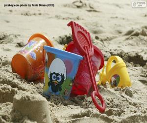 Beach toys puzzle
