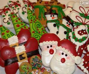 Beautiful christmas cookies in a variety of forms puzzle