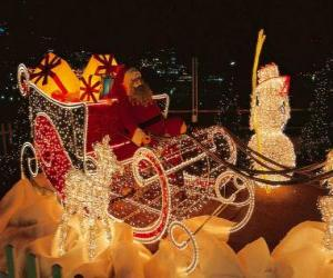 Beautiful Christmas sleigh plenty of presents puzzle
