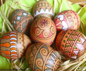 Beautiful Easter eggs puzzle