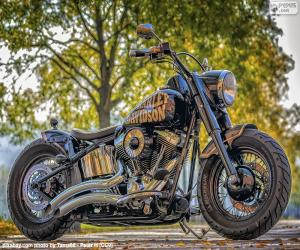 Beautiful Harley-Davidson puzzle