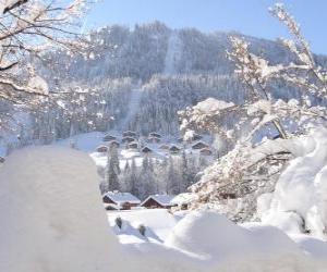 Beautiful landscape completely snowed puzzle