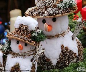 Beautiful snowmen puzzle