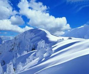 Beautiful winter landscape puzzle