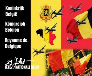 Belgian National Day is celebrated on July 21. In 1831 the first Belgian king swore allegiance to the Constitution puzzle