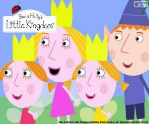 Ben and Holly with Daisy and Poppy puzzle