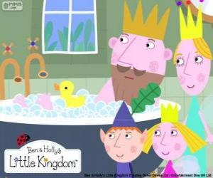Ben and Holly with the Kings puzzle