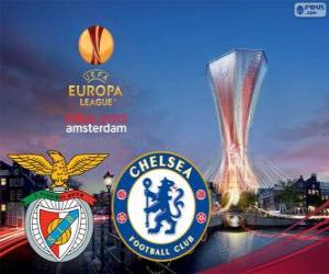 Benfica vs Chelsea. Europe League 2012-2013 Final in the Amsterdam Arena, Netherlands puzzle