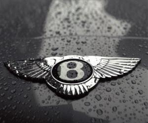Bentley logo, British car manufacturer puzzle