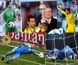 Best goalkeeper Justo Villar Copa America 2011 puzzle