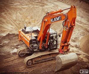 Big crawler excavator puzzle
