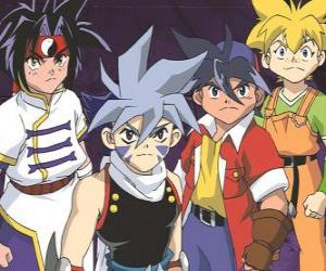 Bladebreakers team, Tyson Granger, Kai Hiwatari, Ray Kon and Max Tate puzzle
