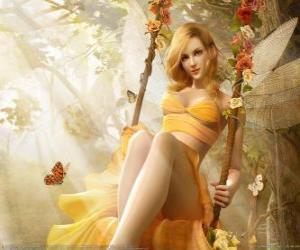 Blonde fairy puzzle