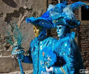 Blue costumes puzzle