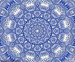 Blue flower mandala puzzle