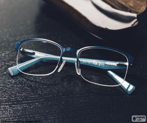 Blue glasses puzzle