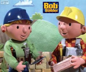 Bob the Builder and his partner Wendy organizing the work of the day puzzle