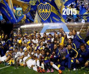 Boca, champion 1st Division 2015 puzzle