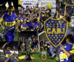 Boca Juniors, champion fo the tournament Apertura 2011, Argentina puzzle