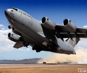 Boeing C 17 Globemaster III Military transport aircraft puzzle