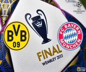 Borussia Dormunt vs Bayern Munich. Final UEFA Champions League 2012-2013. Wembley Stadium, London, Great Britain puzzle