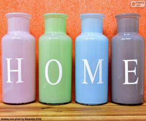 Bottles 'HOME' puzzle