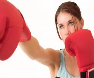 Boxing - Face of a boxer puzzle